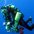 A photo of diver Jean-Marc Jefferson