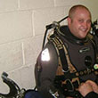 A photo of diver Kevin Stratford