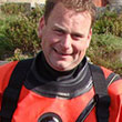 A photo of diver Mark Pearce