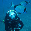 A photo of diver Rob Jackson EngTech MIMechE
