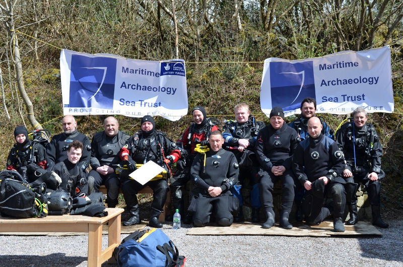 A photo of HLF NE Remembrance Wrecks dive team on their training weekend