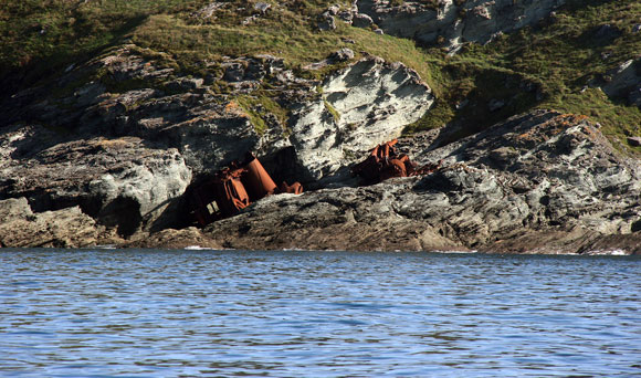 Thumbnail - Wreck of the <em>Demetrios</em>, lying on the west side of Prawle Point