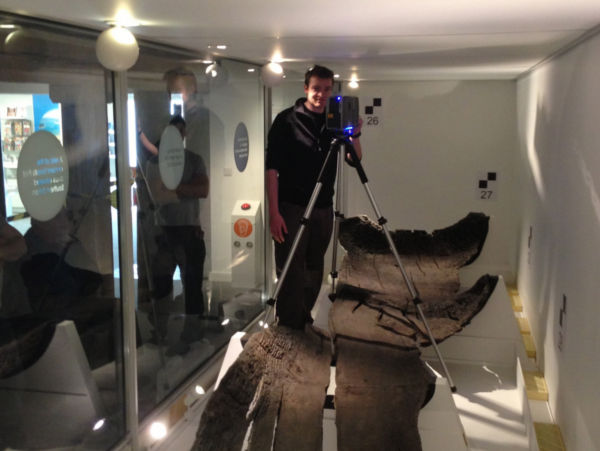 A photo of Checking the Faro 3D laser scanner ahead of the recording